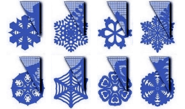 Новогодние украшения своими руками из бумаги снежинки схемы