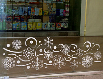 Как украсить стекло к новому году