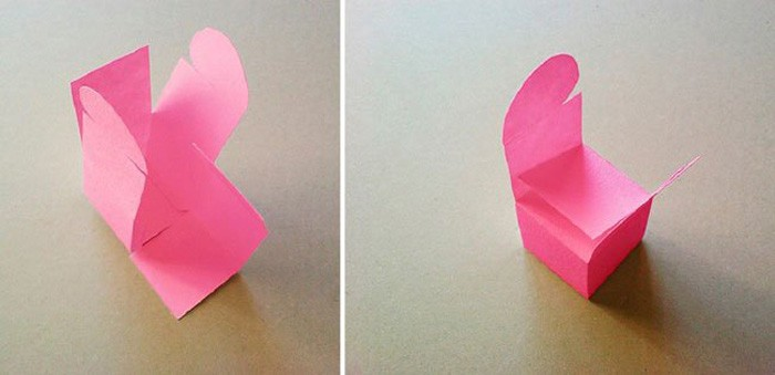 Оригами коробка сердце из бумаги 27