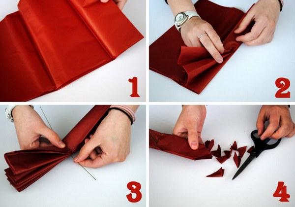 Делаем помпон из бумаги