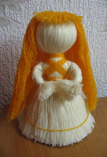 Куклы из ниток своими руками пошаговая