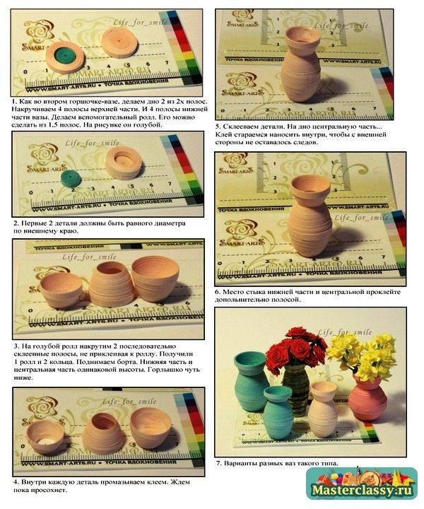 Как из бумаги сделать горшочек