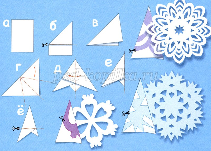 Бумажная снежинка своими руками