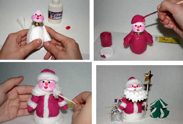 Как делать игрушки на новый год своими руками видео
