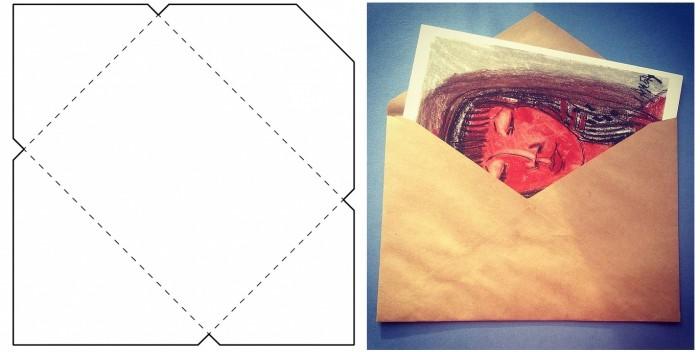 Как сделать очень маленький конвертик