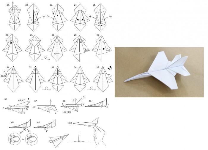 Самолетик из бумаги для детей своими руками