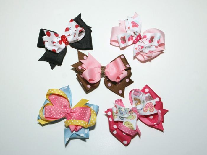 Бантики резинки из лент своими руками для волос на подарок