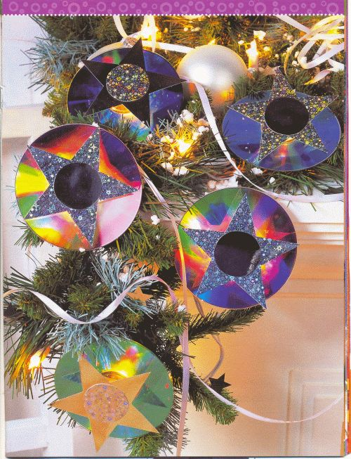Поделки новогодние из сд дисков своими руками фото