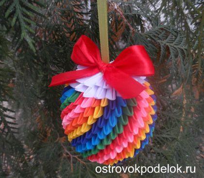 Новогодние поделки и модульного оригами