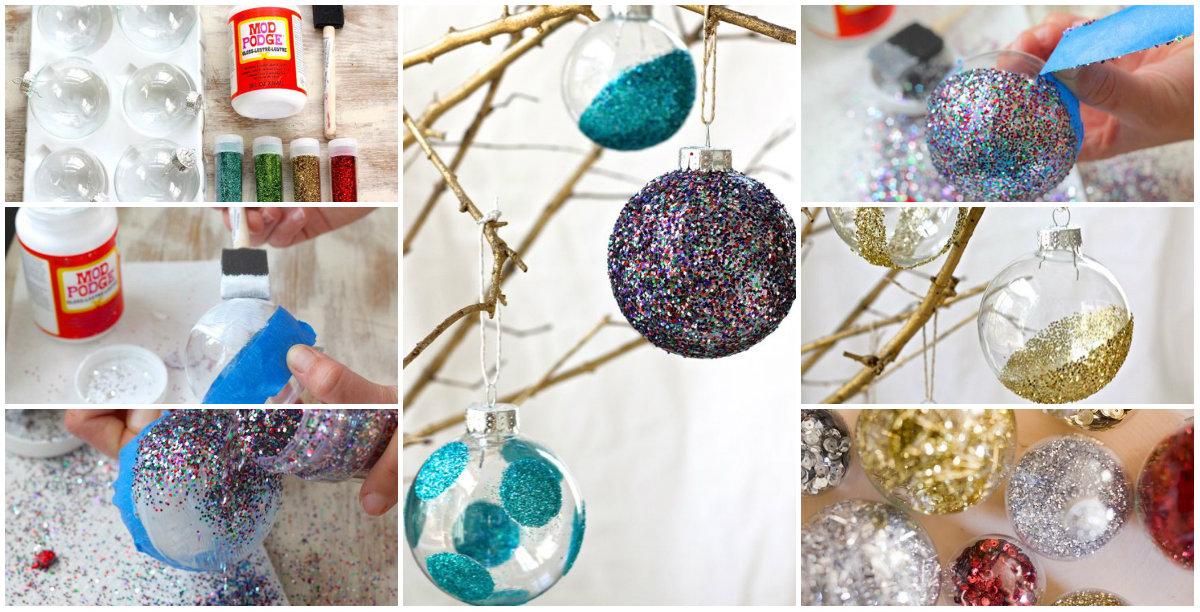 Елочные шары своими руками из подручных материалов