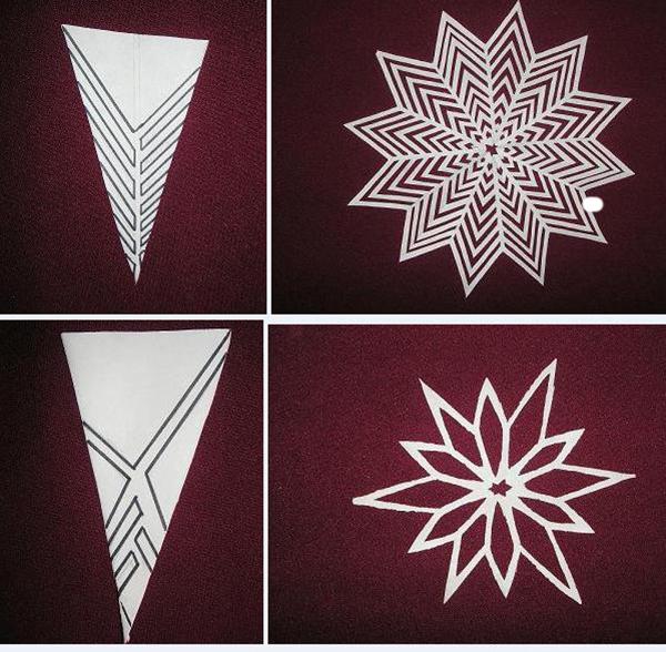 Как сложить лист чтобы сделать снежинки на новый год - Spbgal.ru