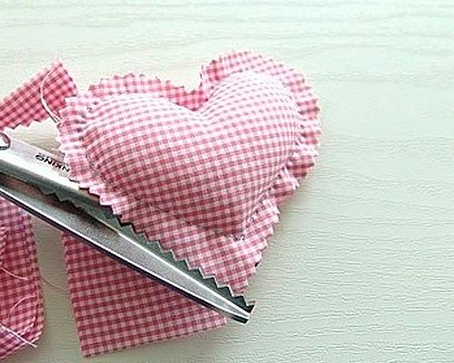 Сделать сердечко своими руками из ткани