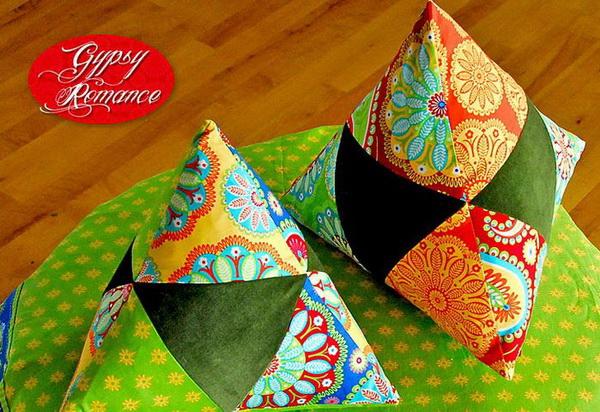 Треугольные подушки своими руками