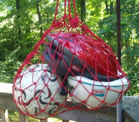 Сетка для переноса мячей своими руками
