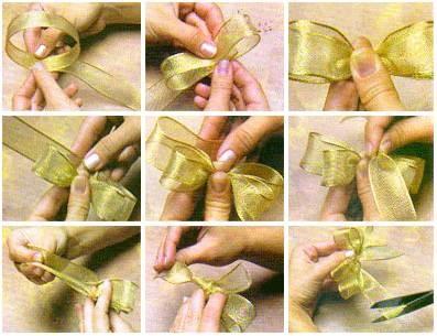 Как сделать своими руками красивый бантик из ленточки